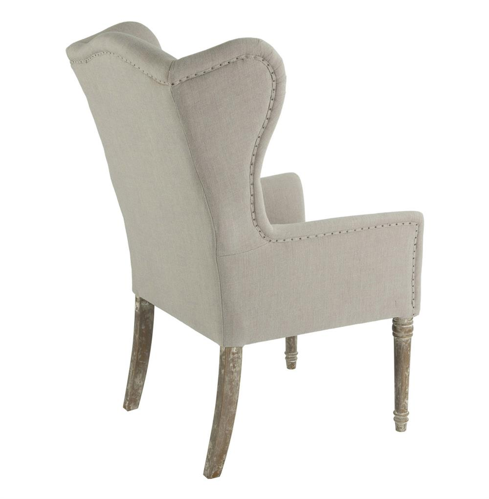 Eli French Country Wing Back Dining Occasional Chair Dark  : product27381 from www.kathykuohome.com size 1000 x 1021 jpeg 48kB