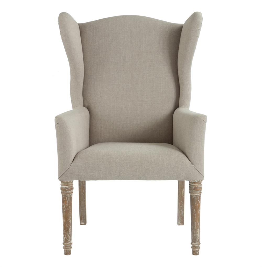 Eli French Country Wing Back Dining Occasional Chair Dark  : product27383 from www.kathykuohome.com size 1000 x 1021 jpeg 51kB
