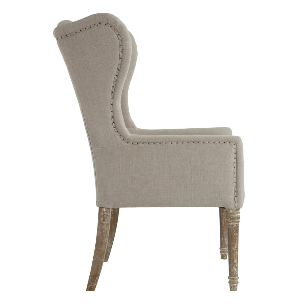 Eli French Country Wing Back Dining Occasional Chair Dark