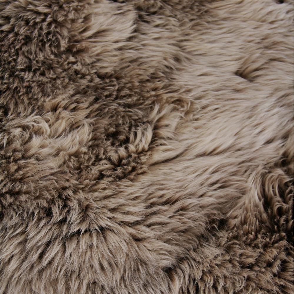 Exquisite Rugs Sheepskin Modern Classic Grey Brown Fur Rug