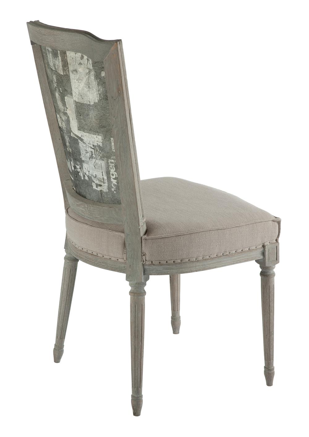 Painted canvas back ethan french country dining chair for Canvas dining