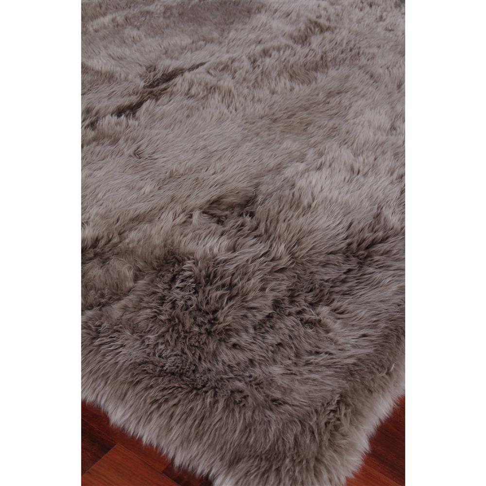 Exquisite Rugs Sheepskin Modern Classic Pewter Grey Fur