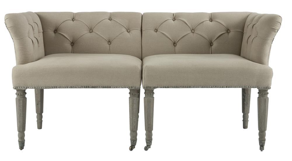 on beige loveseat big back high bedroom settee tufted sofa velvet shop deal bench belleze