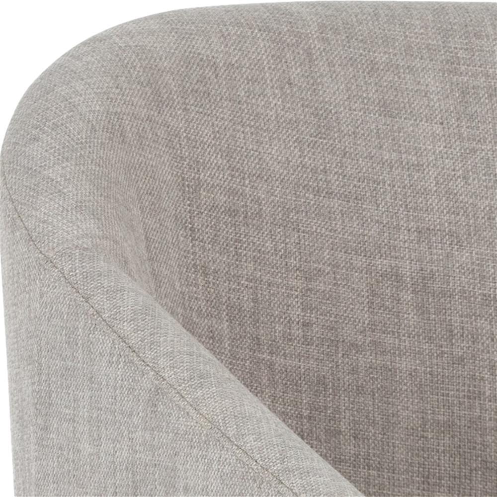 Ziegler Modern Classic Grey Cushioned Barrel Back Wood Bar