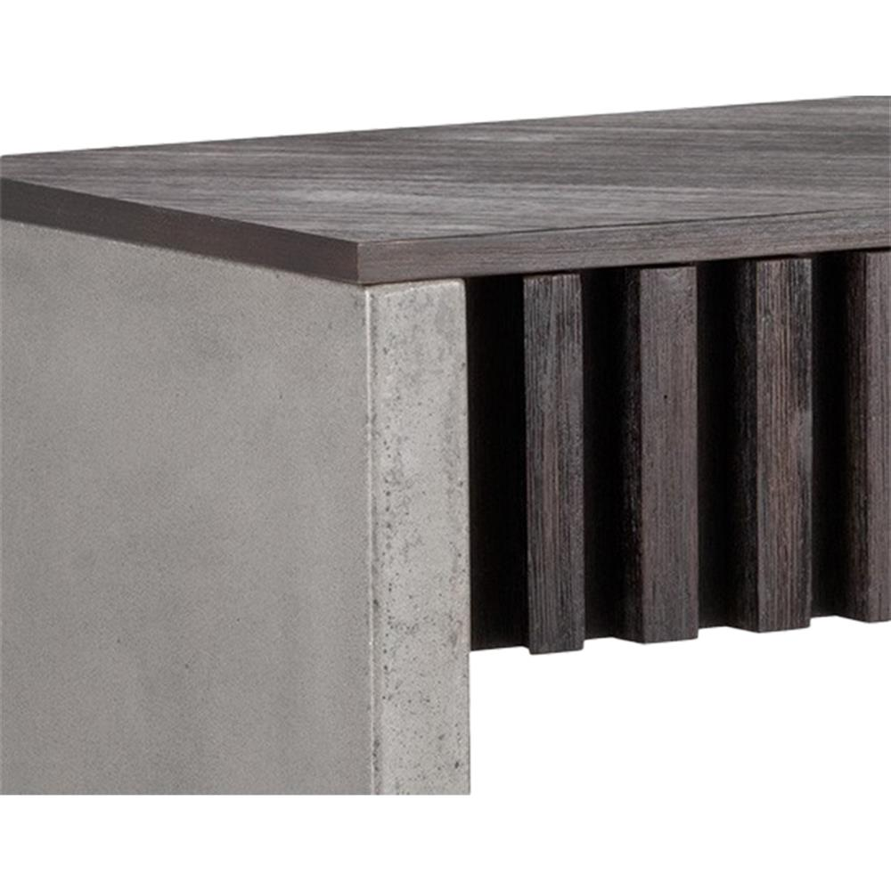 Industrial Coffee Table Dark Wood: Curson Industrial Loft Dark Wood Concrete 2 Drawer
