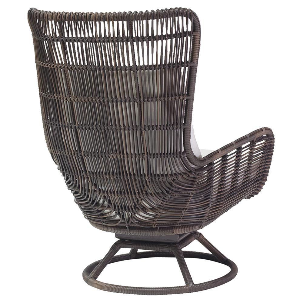 Modern Outdoor Chair: Palecek Sorrento Modern Coastal Aluminum Hand Woven Brown