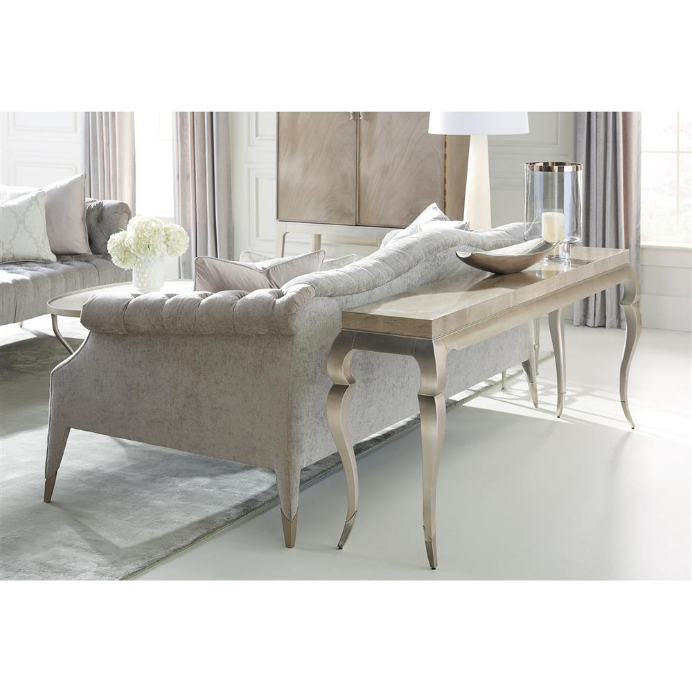 Melina Modern Classic Grey Chenille Upholstered Tufted