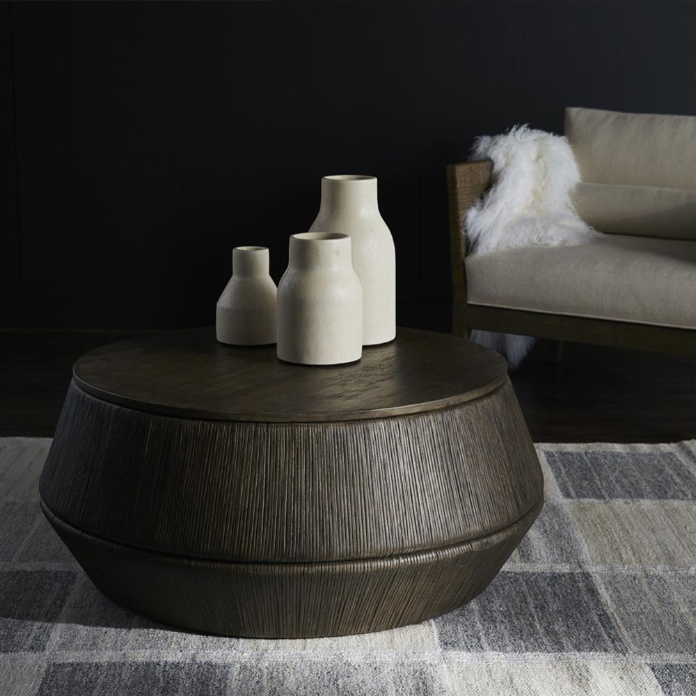 Palecek Kota Modern Rustic Distressed Hardwood Rattan