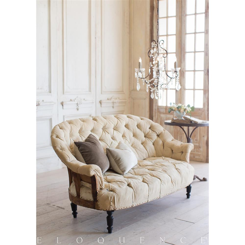 Eloquence French Country Style Antique Sofa: 1880 | Kathy Kuo Home