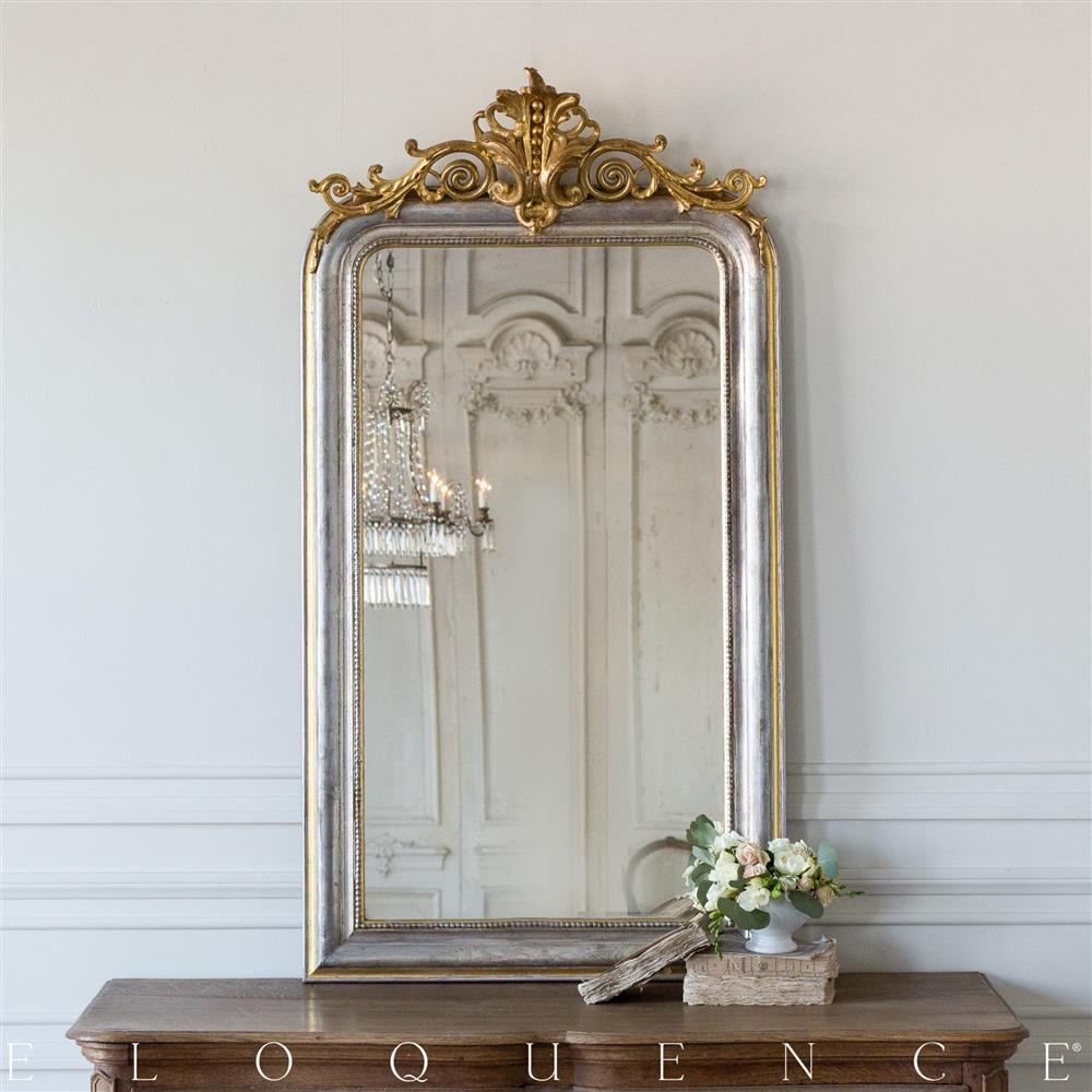 Eloquence French Country Style Antique Mirror: 1890 | Kathy Kuo Home