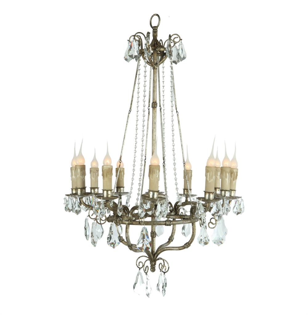 Roma elegant crystal bead french manor 12 light chandelier kathy kuo home - Chandelier glass beads ...