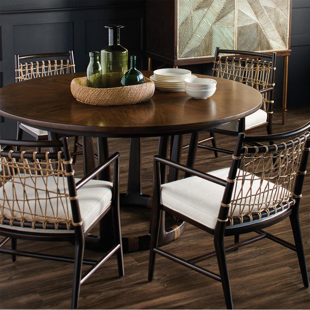 Round Dining Room Tables For 12: Palecek Pratt Modern Classic Hardwood Table Base Round