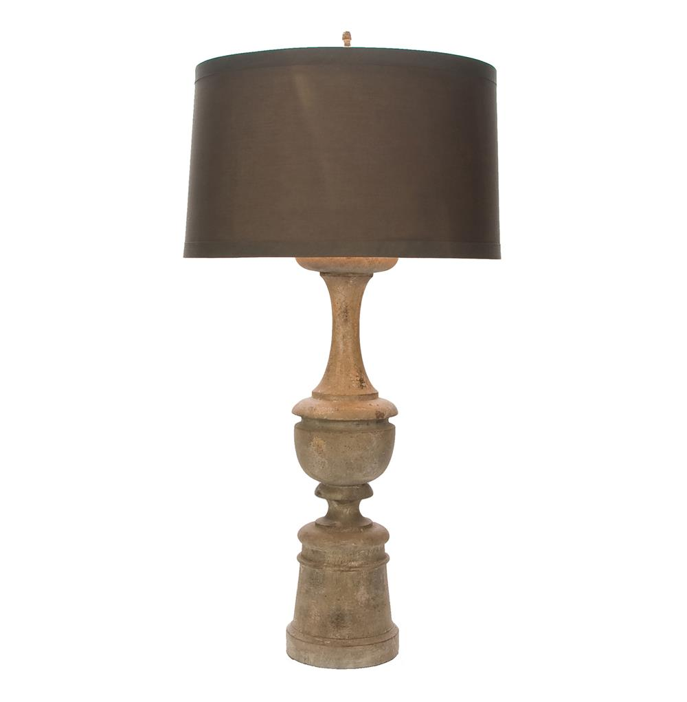 tiffany balustrade carved distressed wood table lamp kathy kuo home. Black Bedroom Furniture Sets. Home Design Ideas