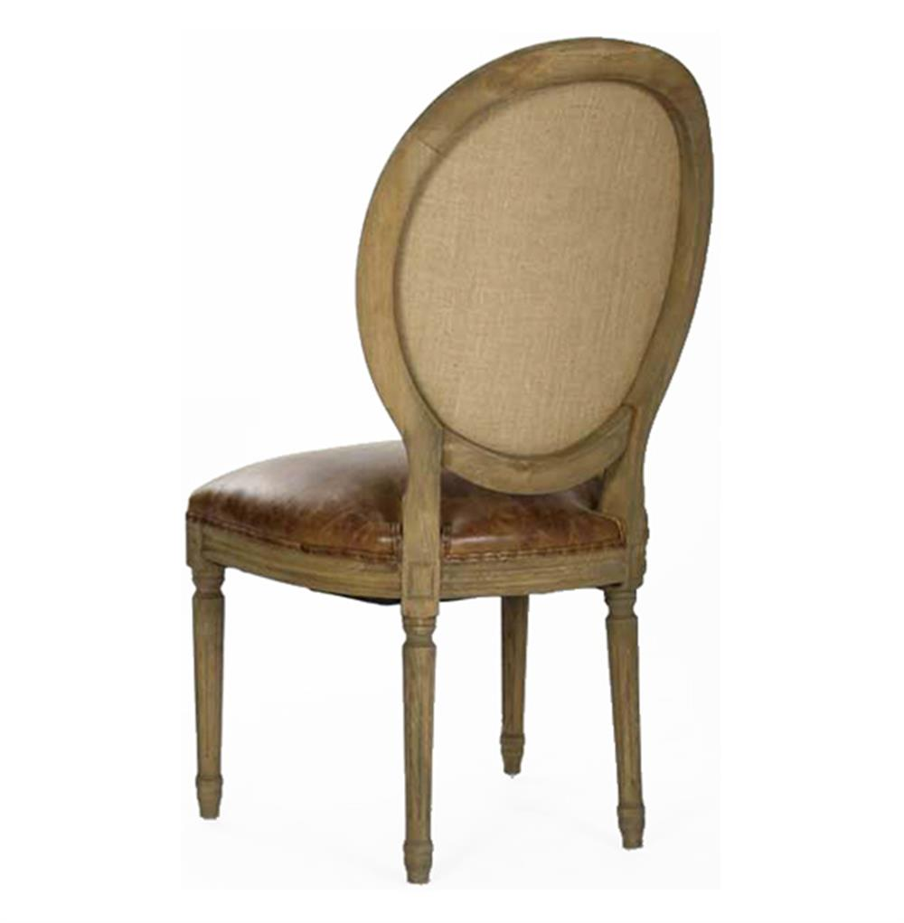 French Country Louis XVI Oval Back Leather Dining Side  : product29602 from www.kathykuohome.com size 1000 x 1021 jpeg 42kB