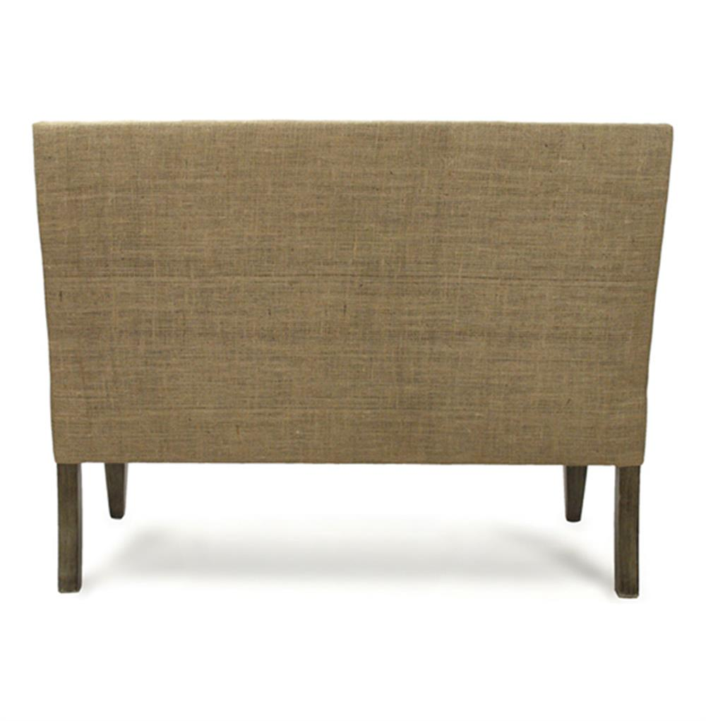 French Country Cottage Light Linen Banquette Dining Settee | Kathy Kuo Home