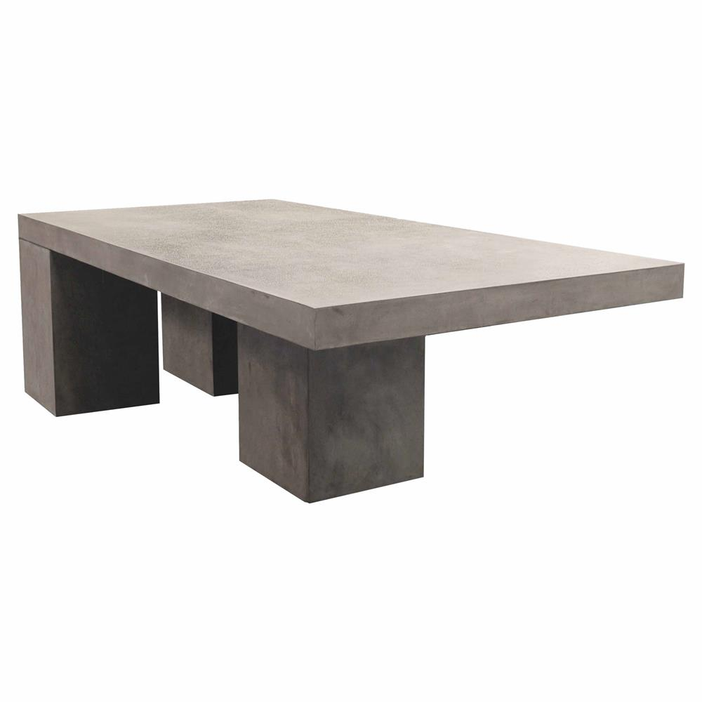Cyrus Modern Rectangular Grey Concrete Outdoor Dining Table