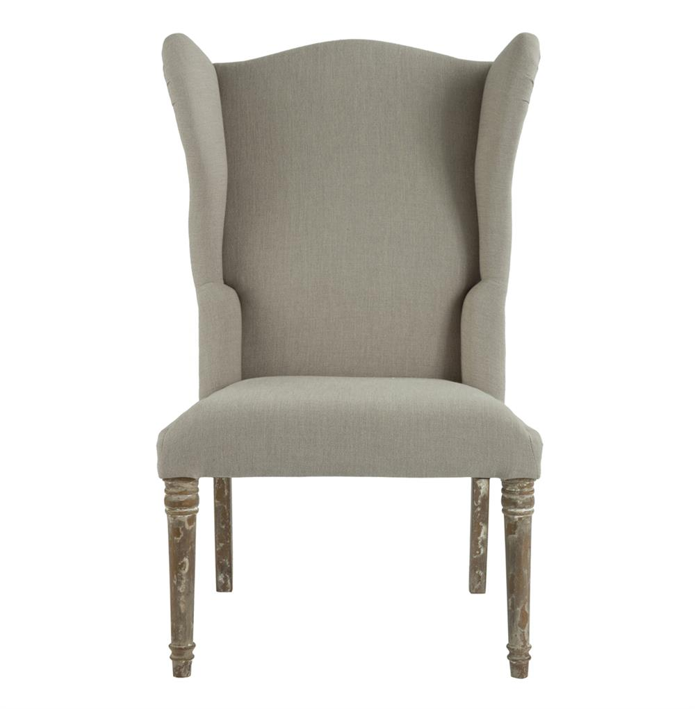 Eli French Country Wing Back Dining Side Chair Dark Linen  : product30472 from kathykuohome.com size 1000 x 1021 jpeg 48kB