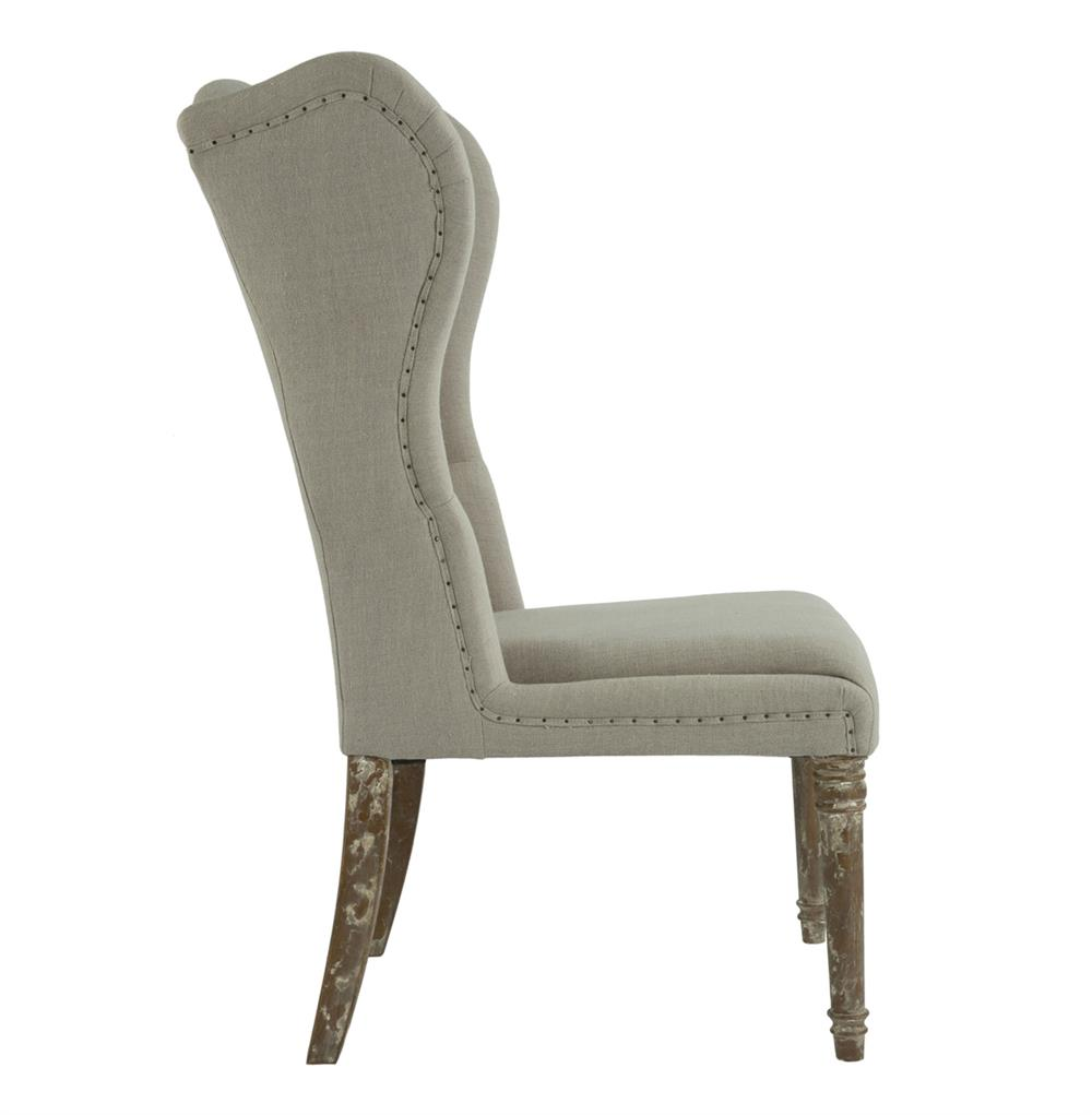 Eli French Country Wing Back Dining Side Chair Dark Linen  : product30473 from kathykuohome.com size 1000 x 1021 jpeg 43kB