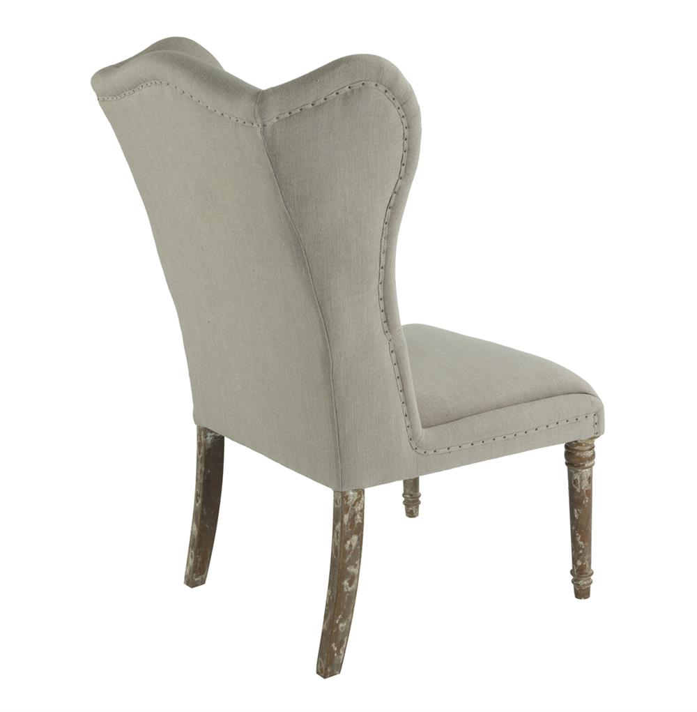 Eli French Country Wing Back Dining Side Chair Dark Linen  : product30474 from kathykuohome.com size 1000 x 1021 jpeg 47kB