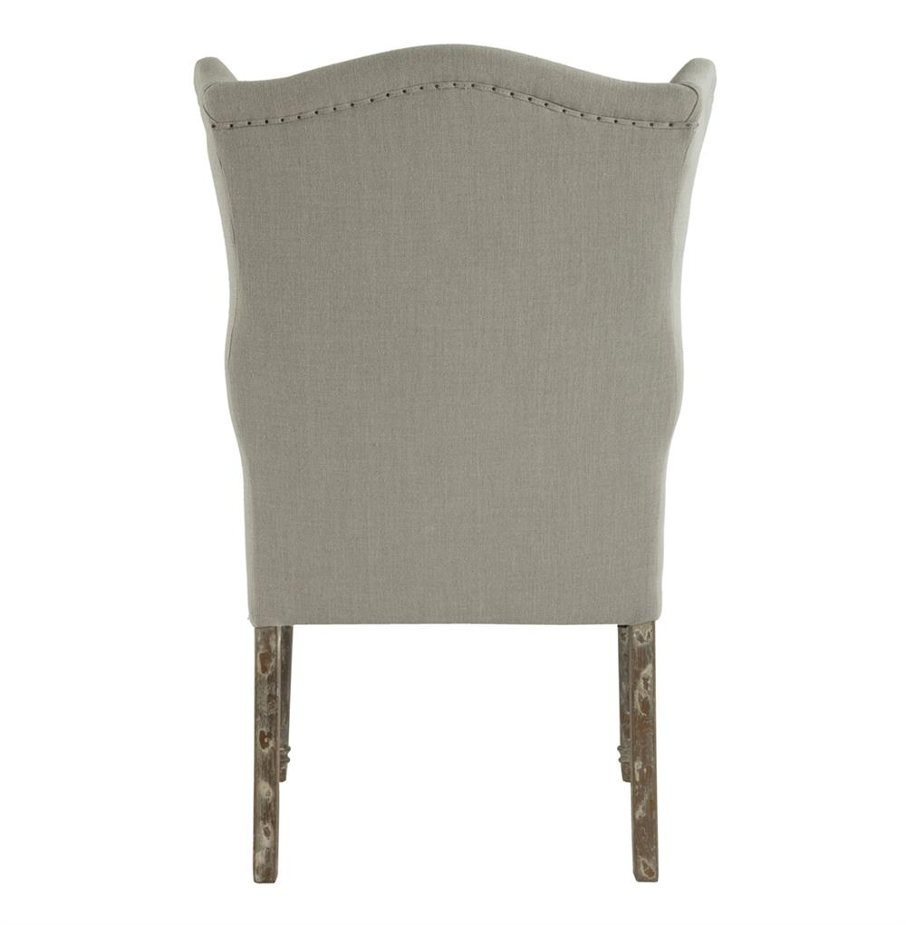 Eli French Country Wing Back Dining Side Chair Dark Linen  : product30475 from www.kathykuohome.com size 1000 x 1021 jpeg 50kB