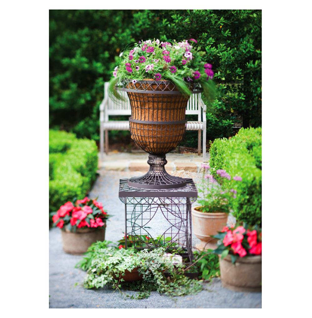 French country chateau wire frame outdoor urn planter kathy kuo home view full size workwithnaturefo