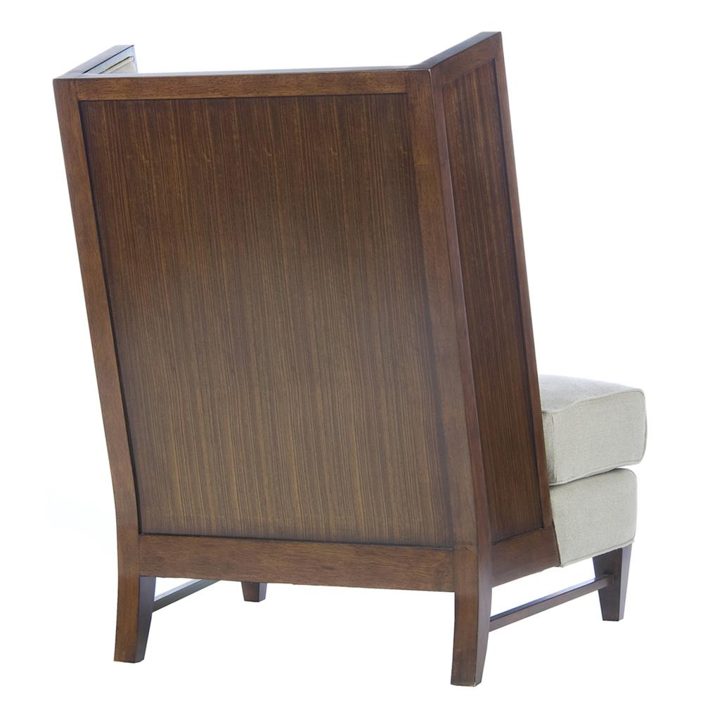 Modern wood chair with arms - View Full Size