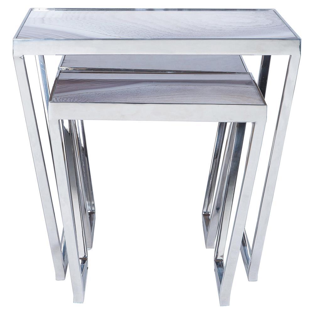 Silver Metal Glass Coffee Table: Maison 55 Jaxson Modern Classic Glass Top Silver Metal