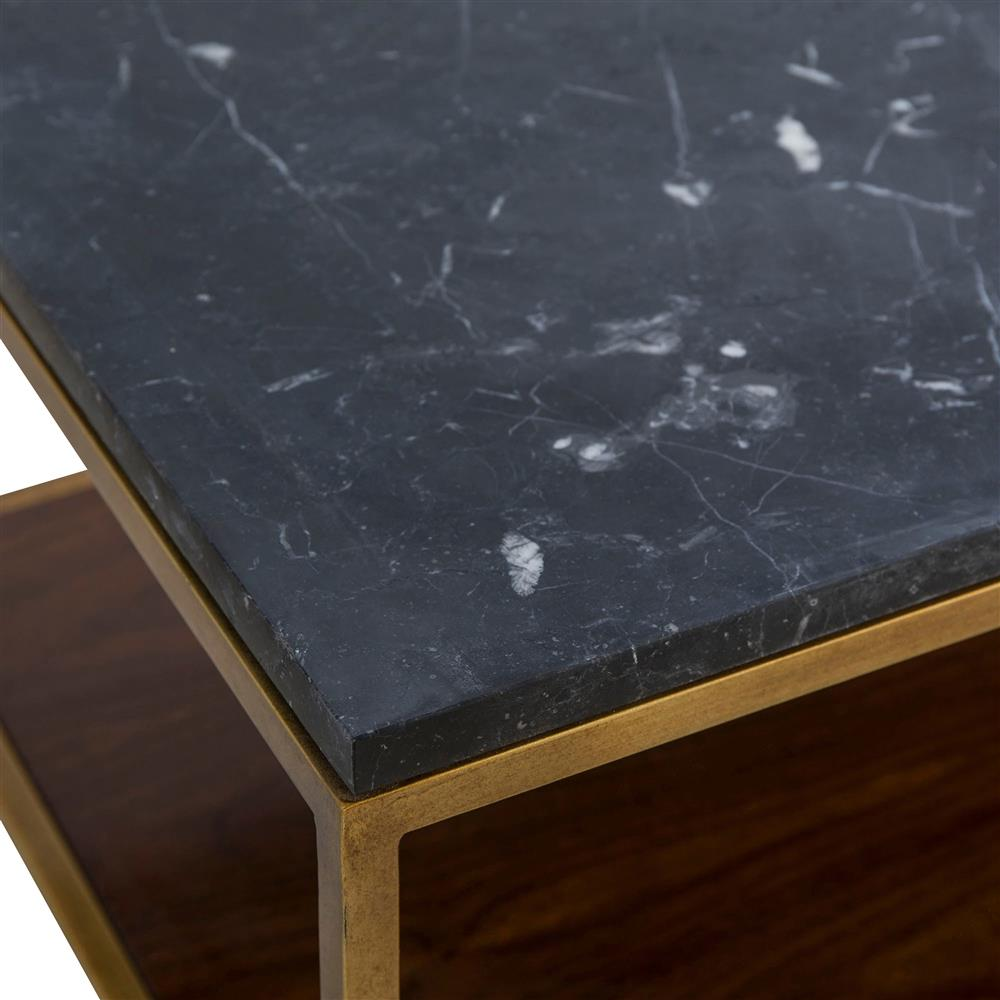 Copeland Square Coffee: Maison 55 Copeland Mid Century Modern Black Marble Gold