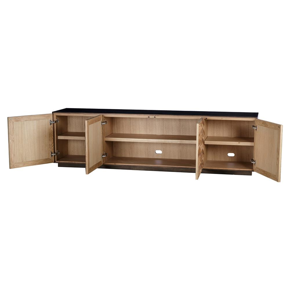 thomas bina frank mid century modern wood 4 door buffet. Black Bedroom Furniture Sets. Home Design Ideas