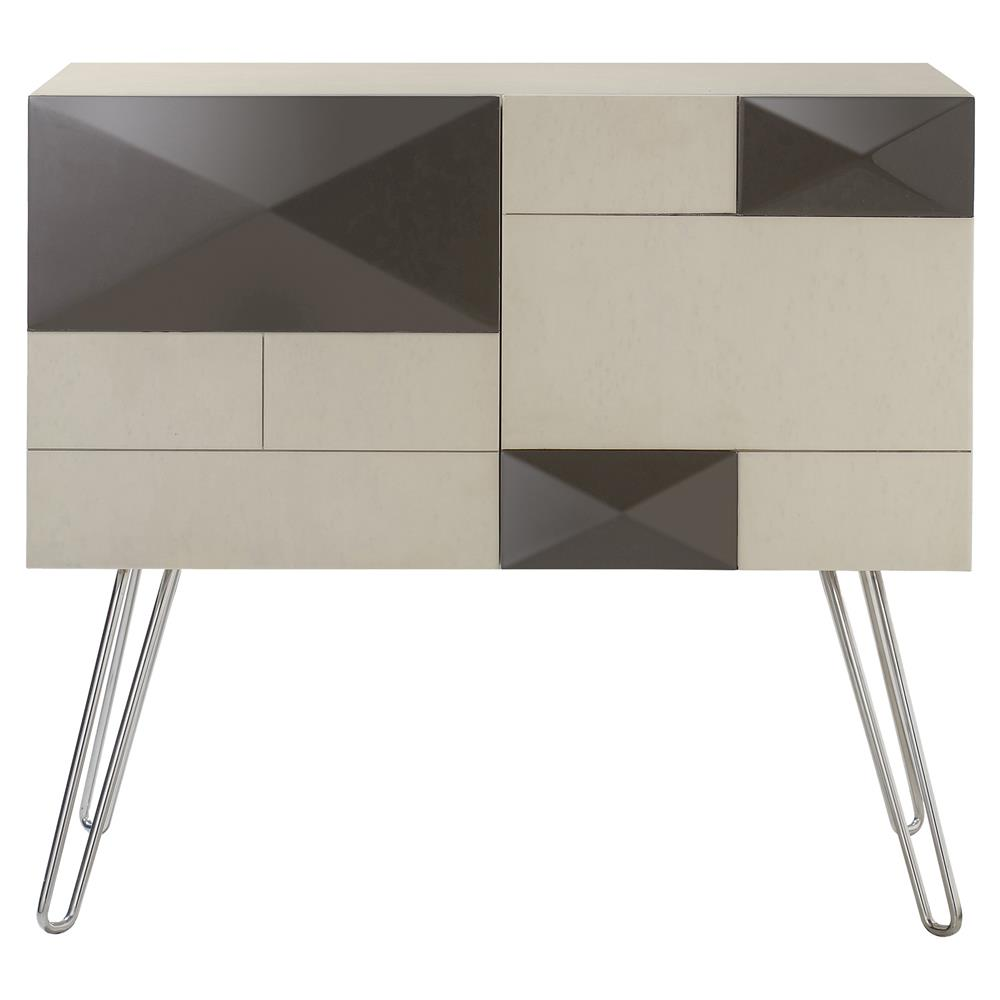 Resource Decor Mondrian Modern Classic Ivory Wood Silver