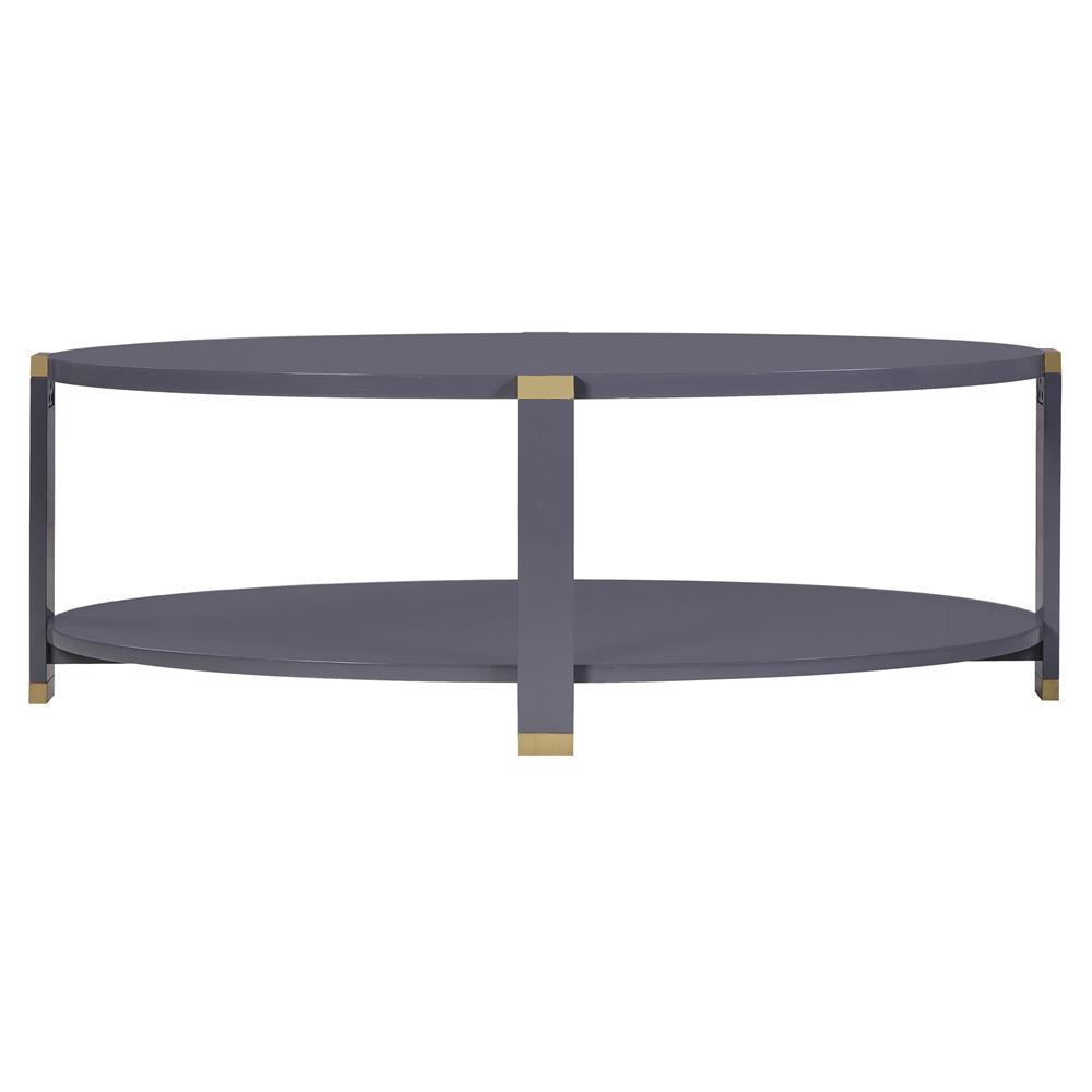 Park Lane Coffee Table: Andrew Martin Park Lane Modern Classic Oval Grey Wood Gold