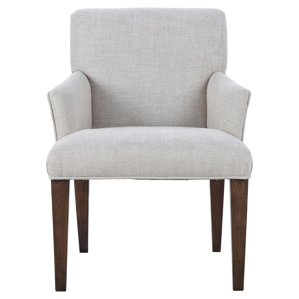 Maison 55 aaron modern classic grey linen wood dining arm chair - Maison moderne diningchair ...