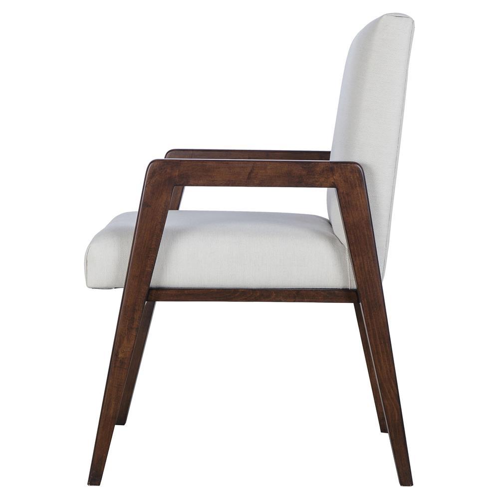 Maison 55 Owen Mid Century Modern White Upholstered Wood