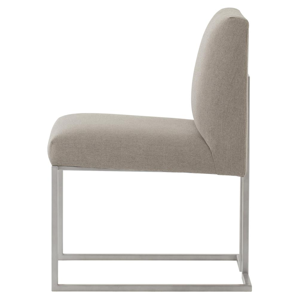 Maison 55 paxton mid century modern tan metal dining side chair - Maison moderne diningchair ...