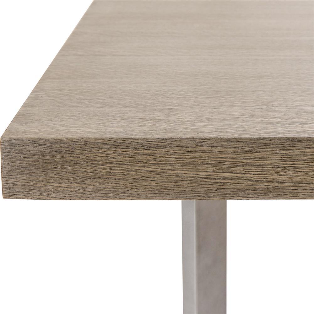 Maison 55 Paxton Mid Century Modern Wood Top Silver Metal