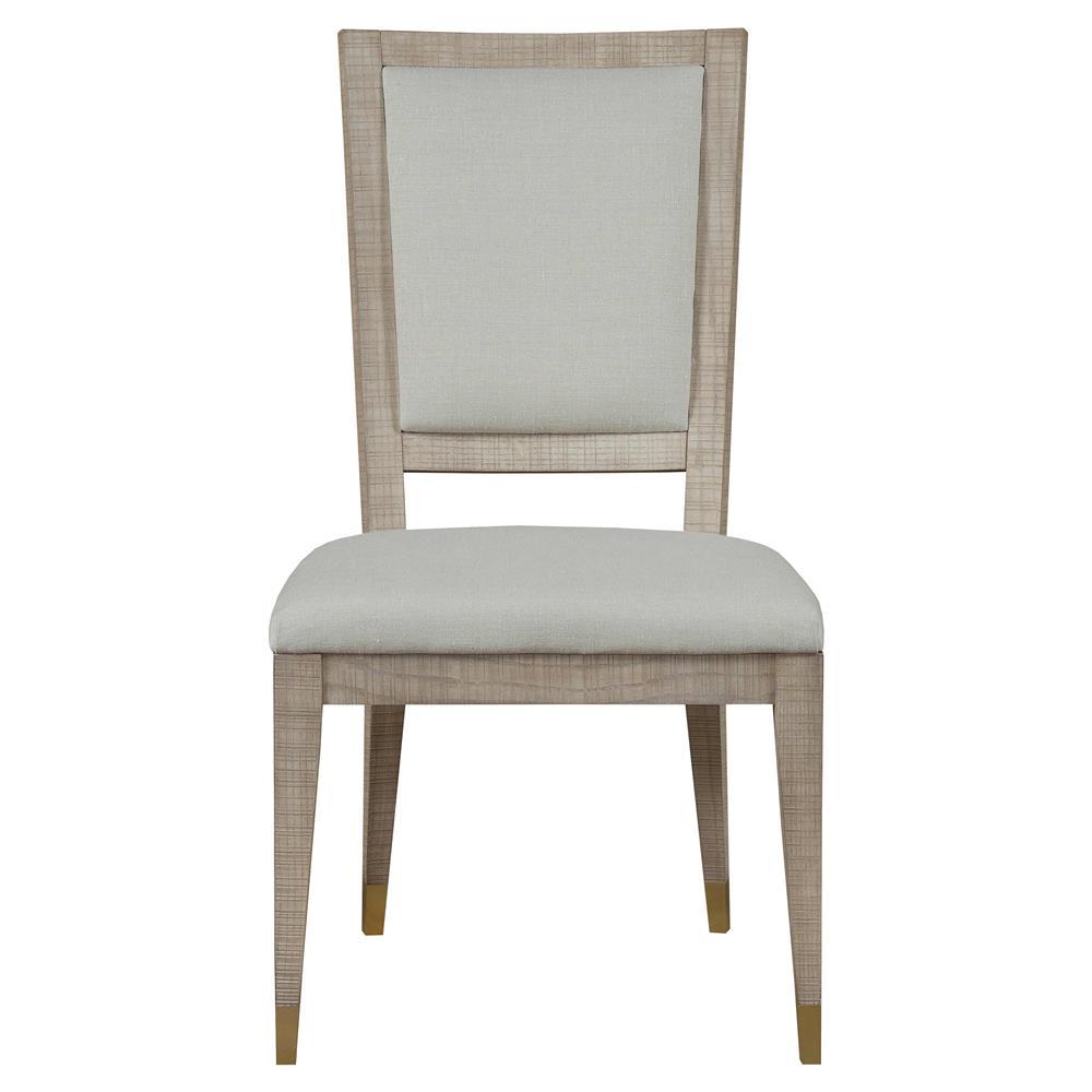 Maison 55 raffles modern classic ivory wood frame dining side chair - Maison wooden ...