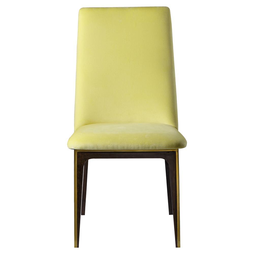 Boyd Silhouette Modern Classic Yellow Fabric Wood Dining ...