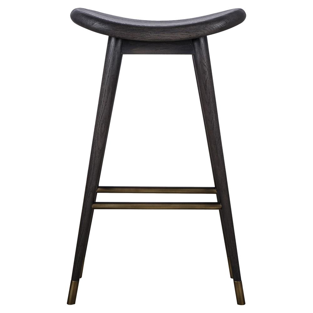 thomas bina smith modern classic black wood yellow trim bar counter stool. Black Bedroom Furniture Sets. Home Design Ideas