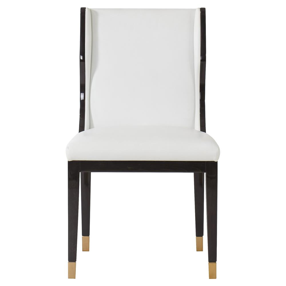 Resource Decor Taylor Modern Classic White Leather Black