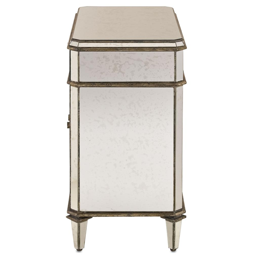 hollywood regency antique mirror nightstand kathy kuo home