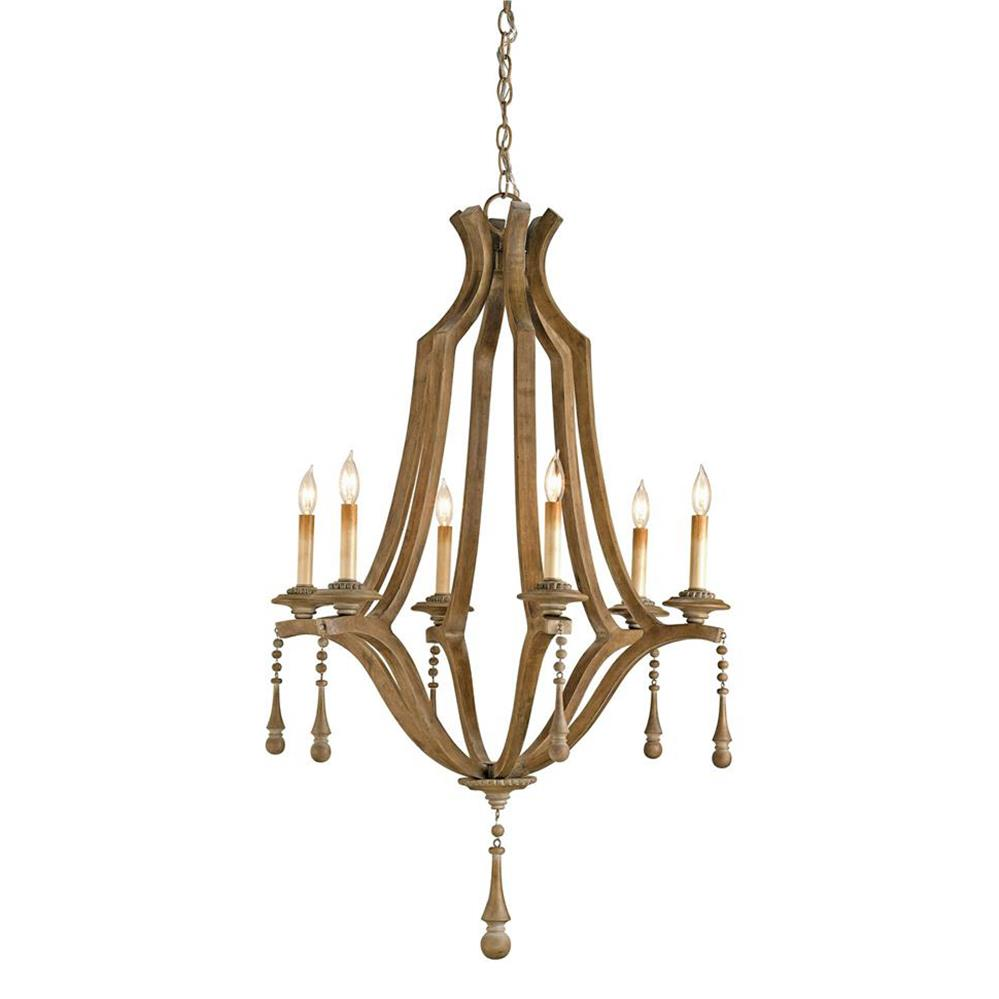 view full size ...  sc 1 st  Kathy Kuo Home & French Country Washed Bent Wood 6 Light Chandelier | Kathy Kuo Home