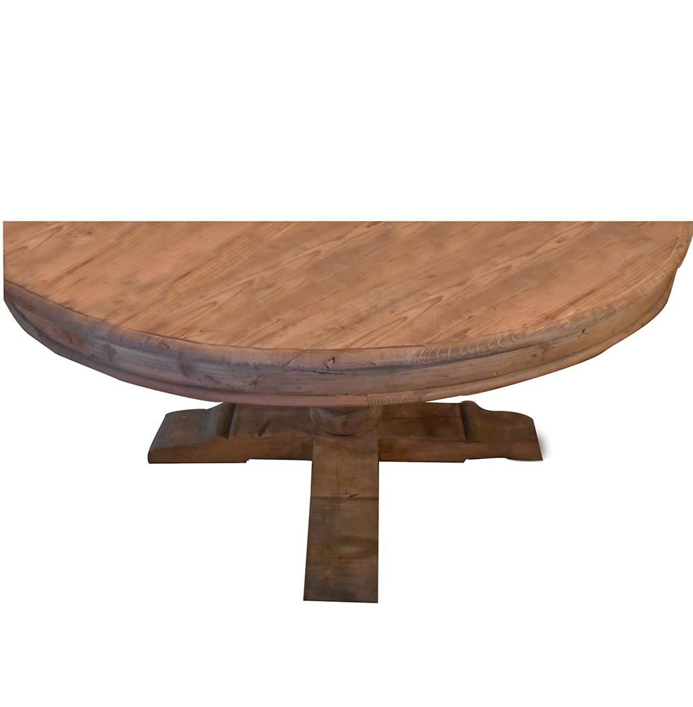 "Winchester Farmhouse Cottage 60"" Round Trestle Dining Table"