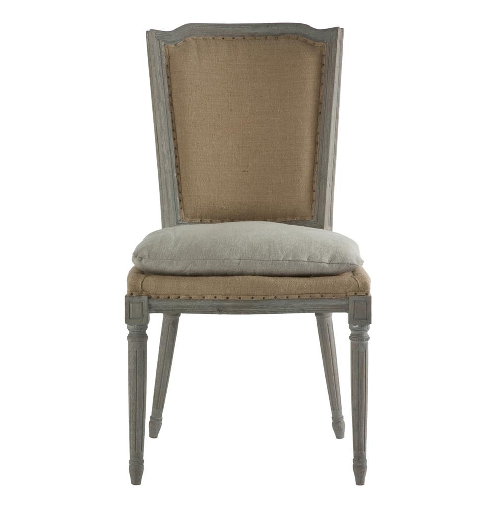 Pair Ethan French Country Rustic Hemp Dining Chair With