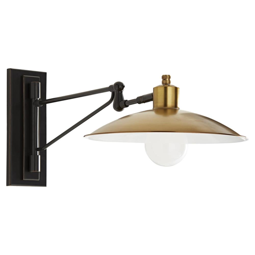 Arteriors Nox Mid Century Modern Gold Antique Brass White ...