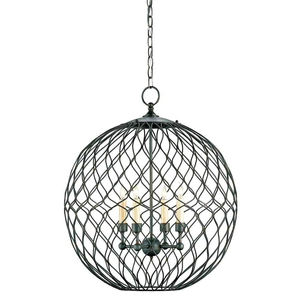 wrought iron 4 light pendant kathy kuo home