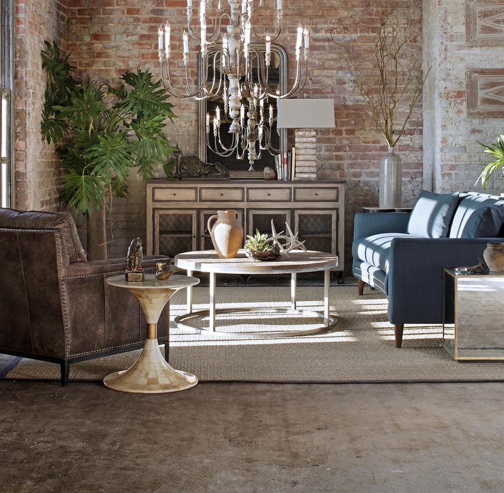 "Vedel Industrial Loft Zinc Wood Rectangle Coffee Table: Hugo Industrial Loft Antique Zinc Hammered 42""D Coffee Table"