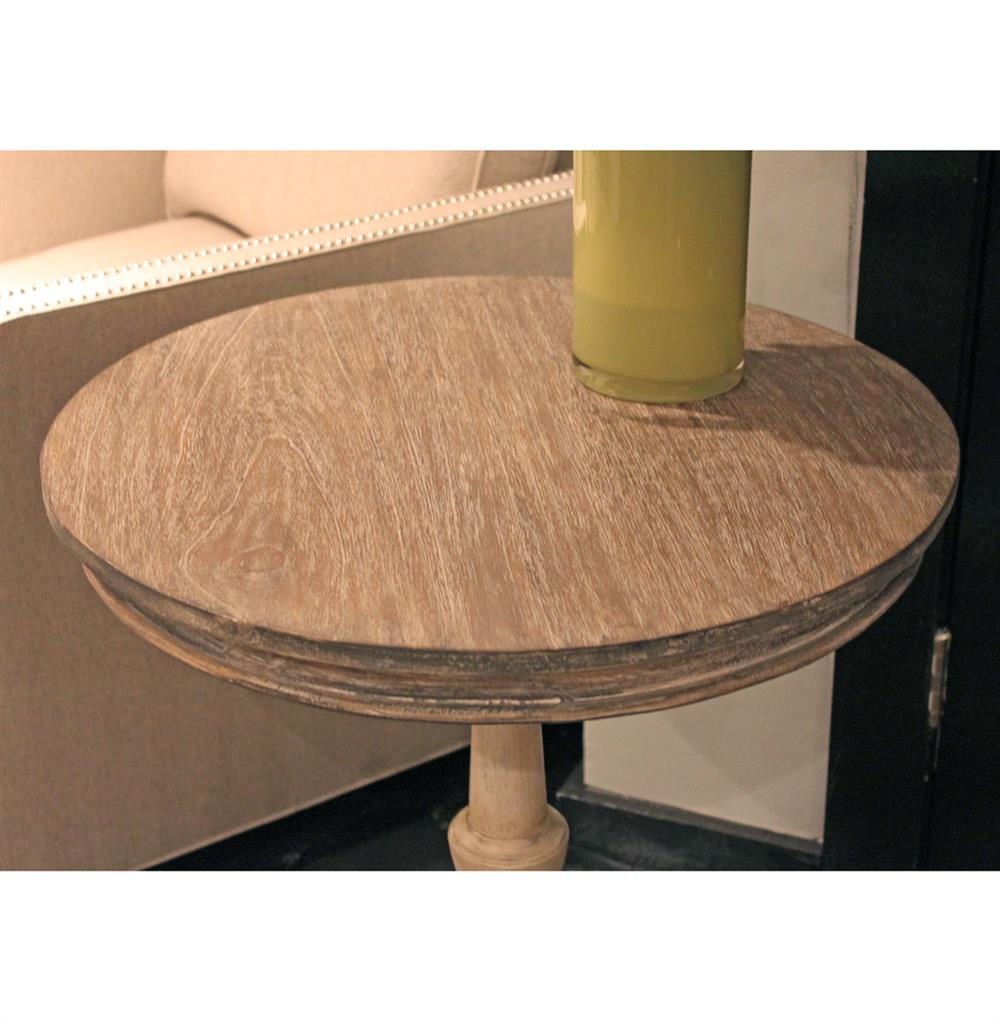 garland swedish gustavian white wash pedestal round end table. Black Bedroom Furniture Sets. Home Design Ideas
