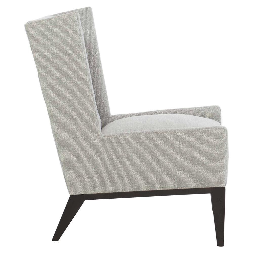 Tate modern classic grey upholstered dark wood living room - Modern upholstered living room chairs ...