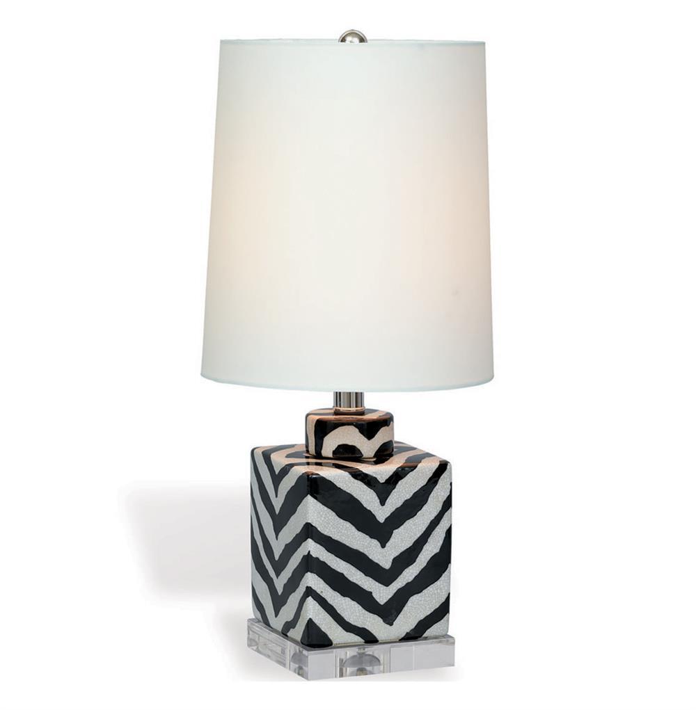 Kenya Modern Black And White Zebra Print Tea Jar Table
