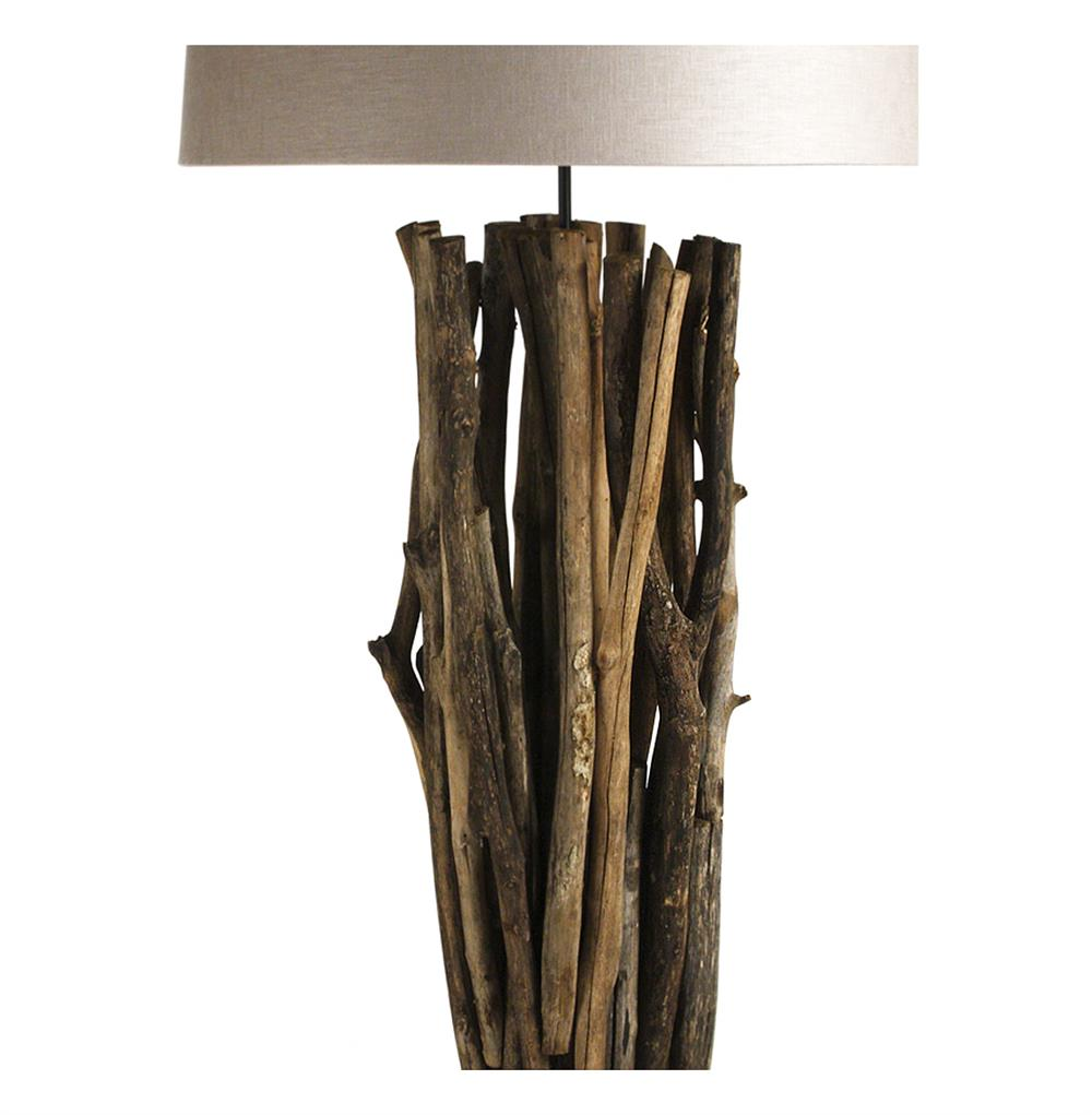Catico Modern Rustic Vine Wood 70 Inch Floor Lamp | Kathy ...